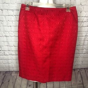 The Limited red textured skirt